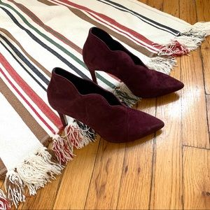 & other stories ankle booties suede maroon 38 8